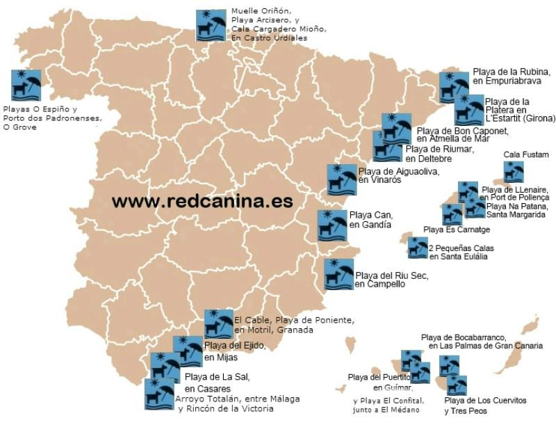 Hondenstrand in Spanje