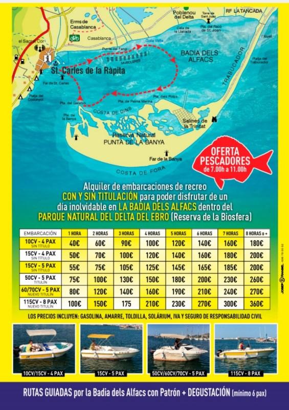 Ontdek Europa's grootste natuurlijke baai. Huur een bootje en verken Badia dels Alfacs in de Ebro Delta.