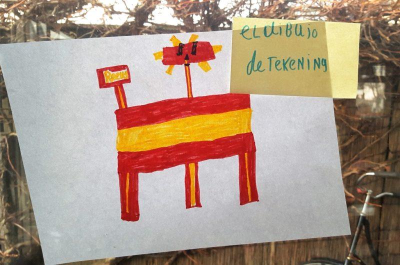 Spaans leren voor kinderen tekenen