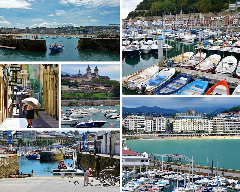 De haven in San Sebastian