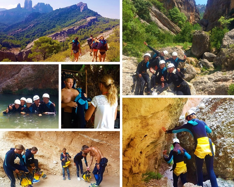 Canyoning in natuurpark Els Ports