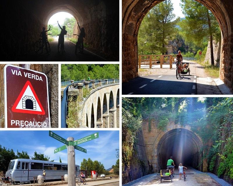 Via Verde Fietsroute in Els Ports