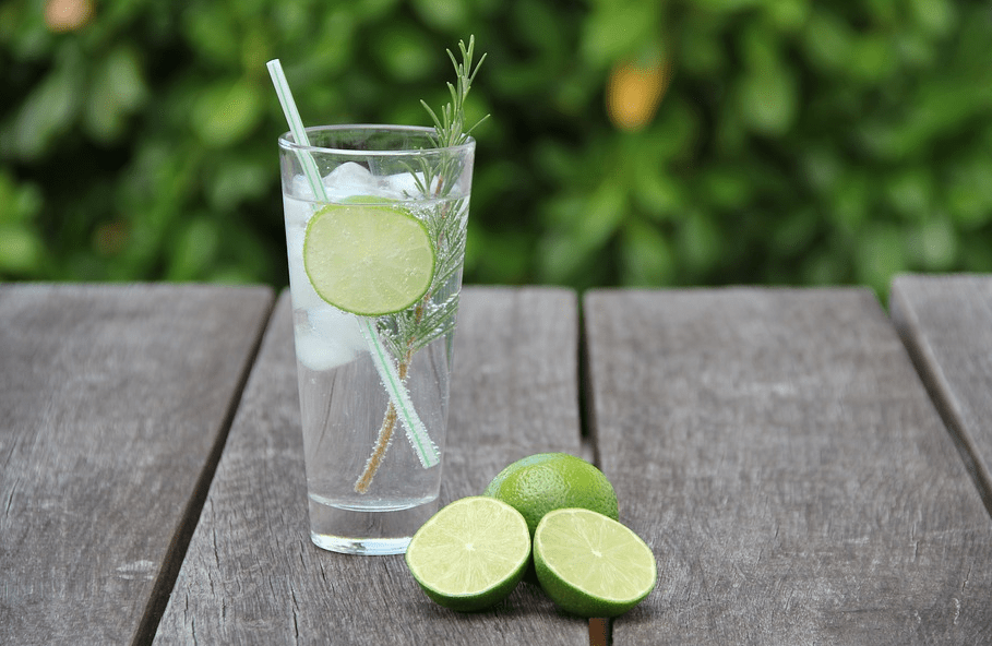 Gin and Tonic image from pixabay.com by sgroene.