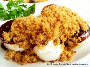 Cold Tofu with Meat Floss