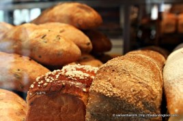 Various breads available - Pain au Levain, Pain Miche, Danish Rugbrod, Fig & Aniseed Sourdough, Olive Bread, Brioche Apricot, etc... etc...