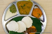 My first Indian vegetarian meal.
