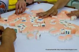 Mahjong game.