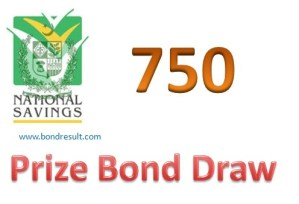 Prize Bond Rs 750 Draw Result on 15 july 2014 in Muzaffarabad