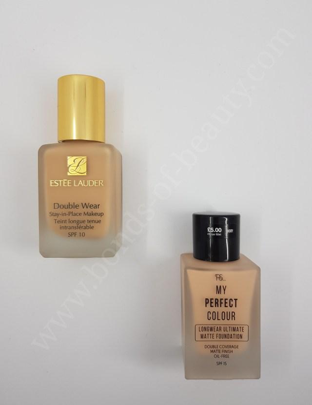 Estée Lauder Double Wear vs Primark My Perfect Colour Stay ...