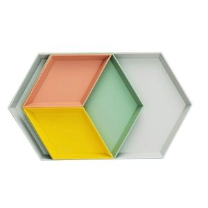 geometric trays
