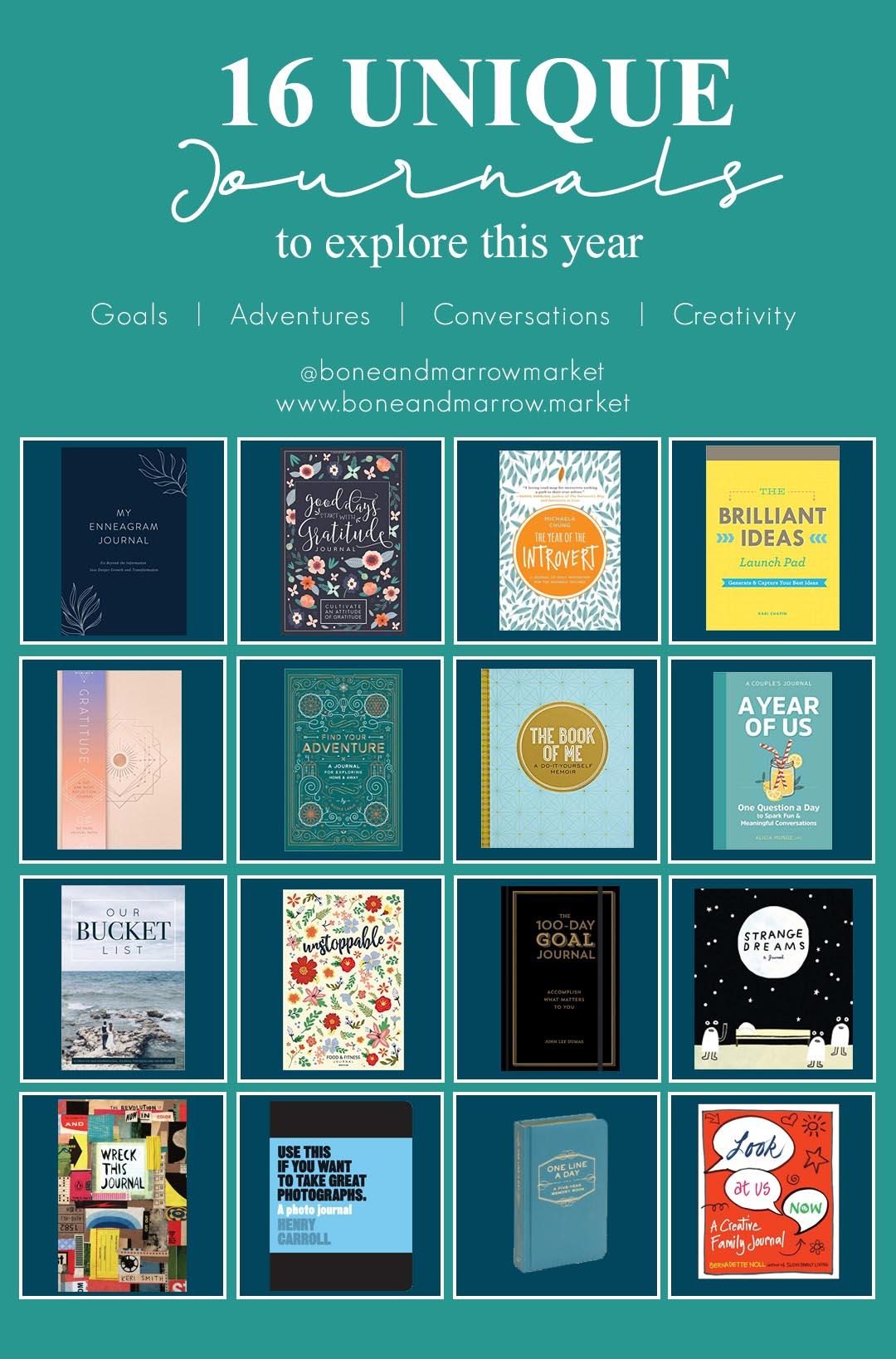 16 Unique Journals to Explore by Bone+Marrow Market