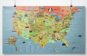 Awesome Maps: USA Bucketlist