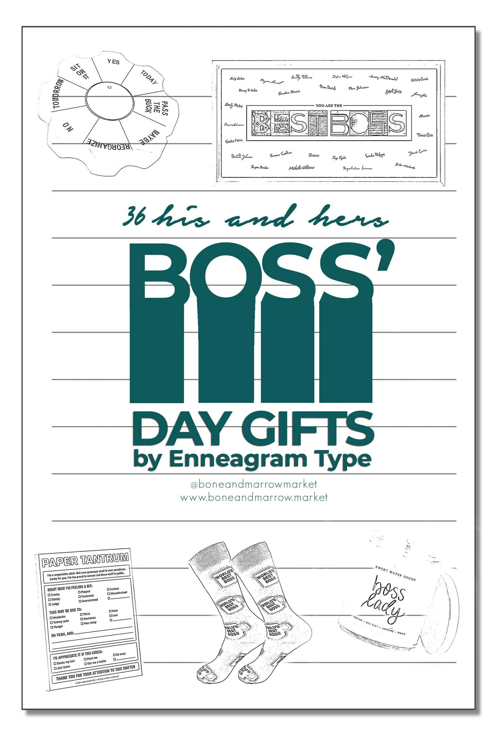 Boss' Day Gifts by Enneagram Type