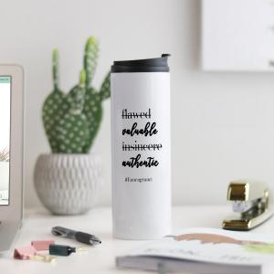 Enneagram 3 Valuable Authentic Affirmation Thermal Tumbler
