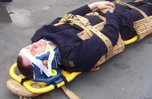 stretcher for spine injuries