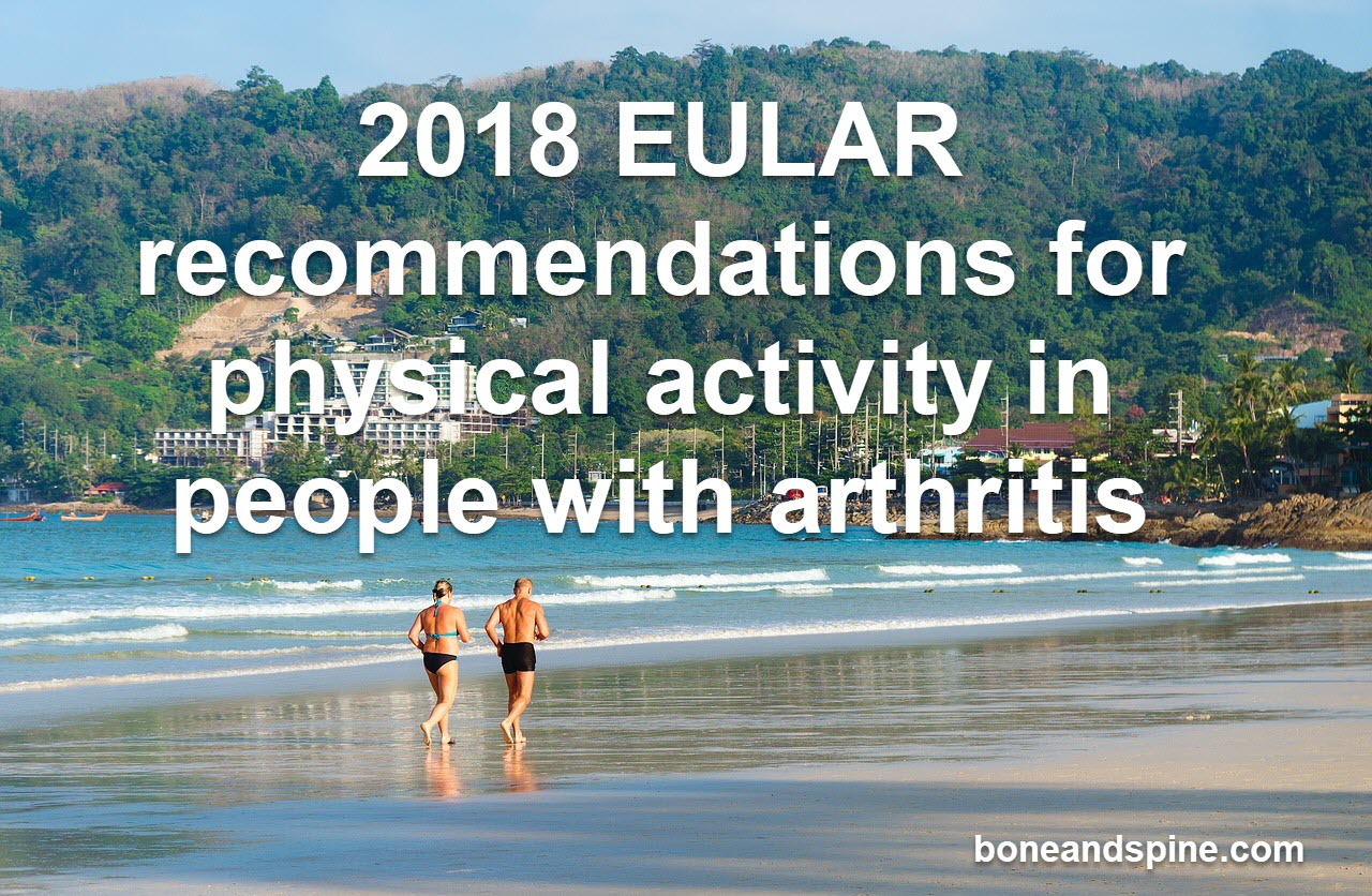 2018 EULAR recommendations for exercise in arthritis and osteoarthritis