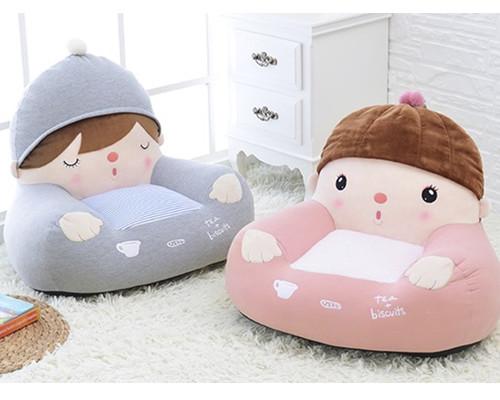 Mini Sofá Infantil Metoo Azul e Rosa