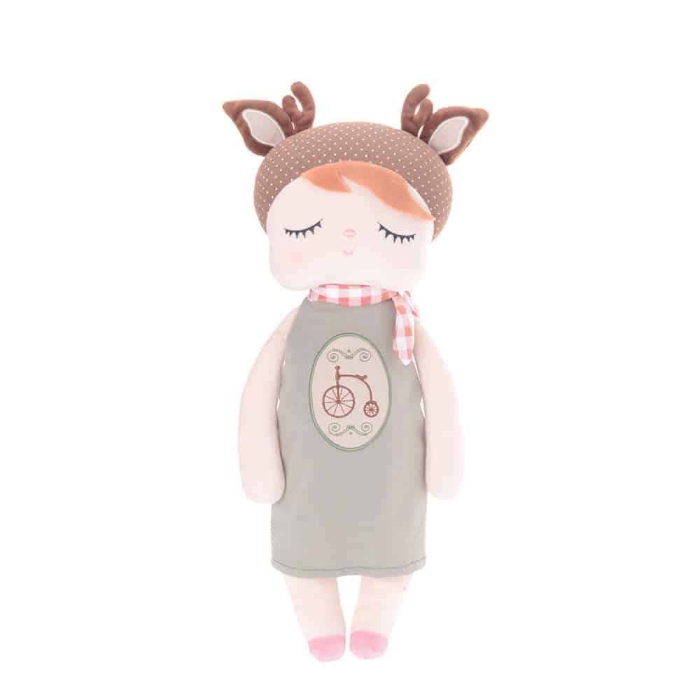 Boneca Metoo Angela Doceira Retro Deer Marrom 33cm (1)