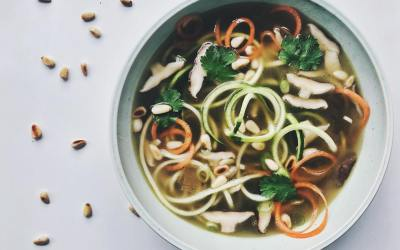 Simple Zoodle Broth by Elise Alldridge