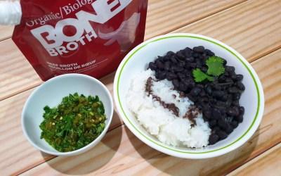 Cuban Black Beans with Bone Broth