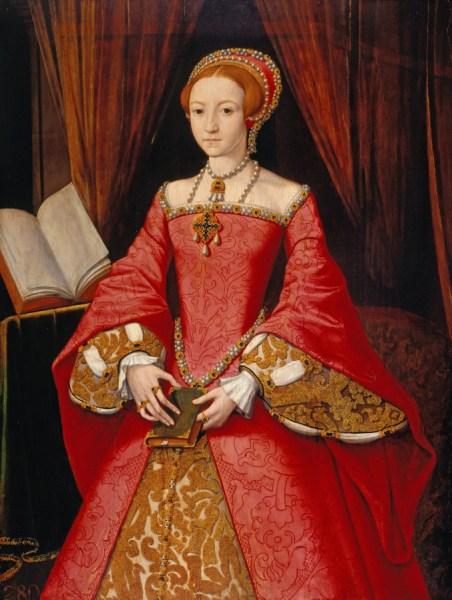 Елизавета I с поясной книгой