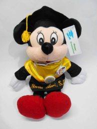 boneka wisuda mickey mini mouse bordir di baju