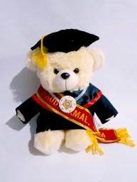 boneka wisuda puffy bear nama di selempang wisuda 3