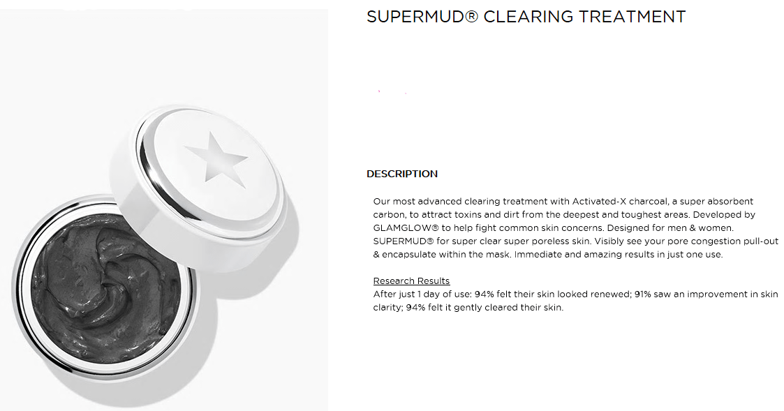 Máscara GLAMGLOW Supermud (Clearing Treatment): Resenha