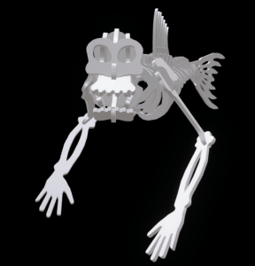 Fiji Mermaid rendering from 3D instructions