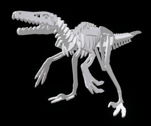 Velociraptor rendering from 3D instructions