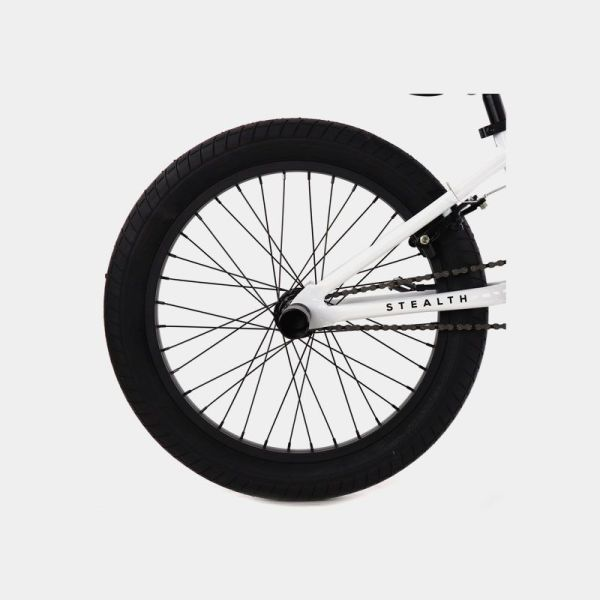 Elite BMX Stealth White Wheel