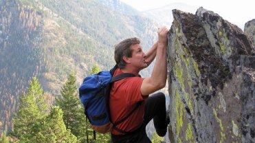 Ed climbs