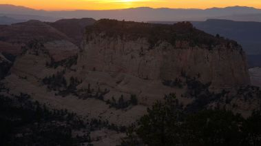 Inclined Temple Sunset