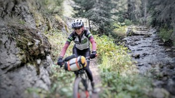 Mo rips down the Cottonwood Trail