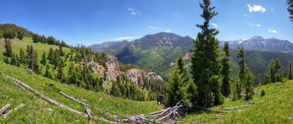 Sweeping views of the moose creek drainage