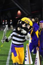 The Pirate was in constant motion trying to keep things stirred up for ECU.