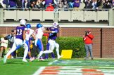 ECU's James Summers goes into the East end zone early in the second quarter Saturday. (W.A. Myatt photo)