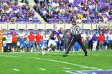 Zay Jones turns upfield after another catch for the Pirates. (W.A. Myatt photo)