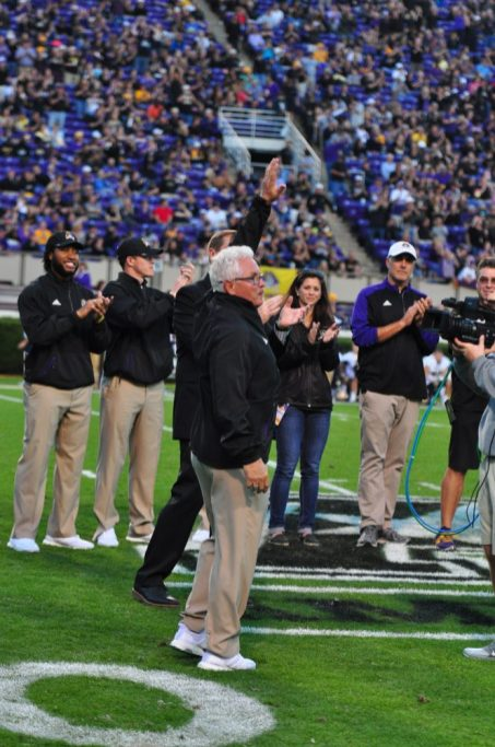 East Carolina Assistant Athletics Director for Strength and Conditioning, Jeff Connors receives recognition for being selected as Coach of the Year by the National Strength and Conditioning Association. (Bonesville Staff)