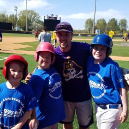 The ECU Pirates team up with the Exceptional Community Baseball League. (04.02.17 photo #3 by Brian Bailey)