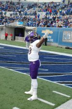 Trevon Brown gets ready to face Memphis at the Liberty Bowl. (Photo by Al Myatt)