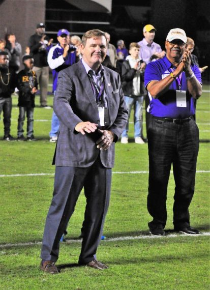 New Hall of Fame inductee Jimmy Creech, who played on the 1972 Southern Conference champion football team, is recognized. (Photo by Al Myatt)