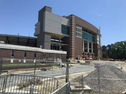 View of TowneBank Tower from an area adjacent to the south side of Dowdy-Ficklen Stadium (Photo by Brett Friedlander)