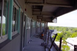 View from the exterior of entrances to new suites in TowneBank Tower (Photo by Brett Friedlander)