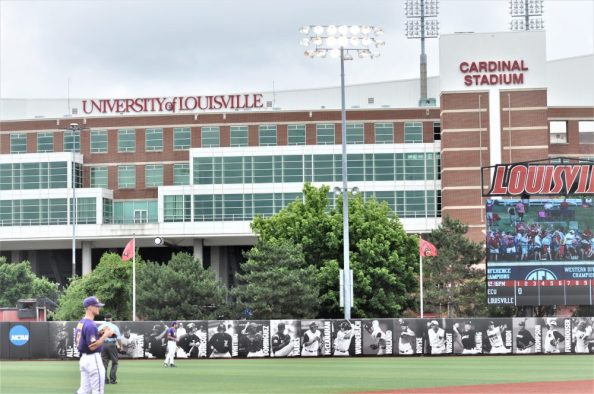 Jim Patterson Stadium is adjacent to Louisville's football facility. (Photo by Al Myatt)