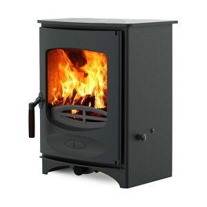 charnwood c four wood burning stove in black