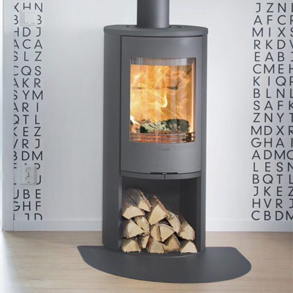 Contura 510 wood burning stove in grey