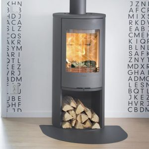 Contura 510 wood burning stove in grey