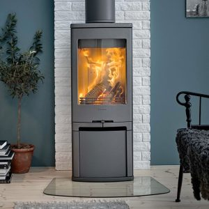 Contura 710 wood burning stove in a living room