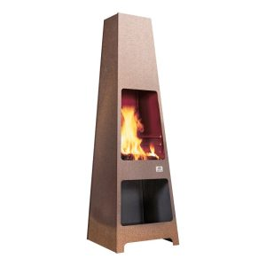 Jotul Loke wood stove outdoors burning